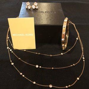 Earrings, bracelet,necklace